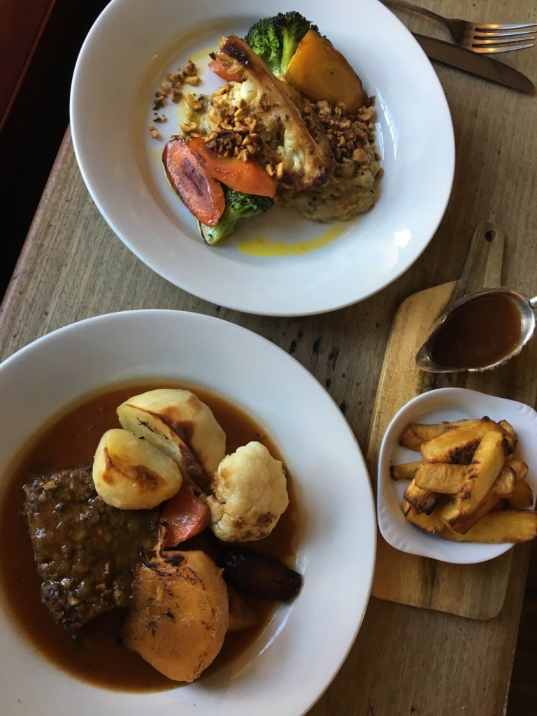Vegan Sunday Lunch at The Feathers Inn